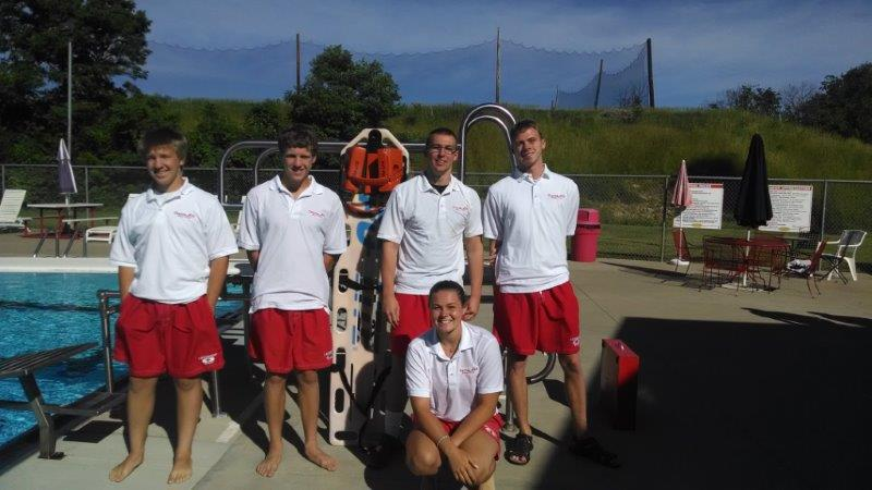 Lifeguards - Joe P., John P., Grant L., Jordan U., and Katie P.